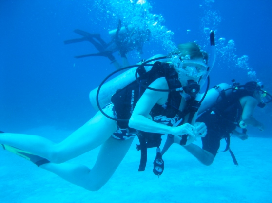 scuba diving, honeymoon